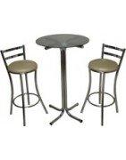Conjuntos de mesas e cadeiras  de cozinha bistrôs e banquetas