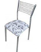Cadeiras de cozinha cromadas